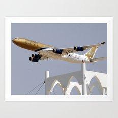 Gulf Air A340 Art Print
