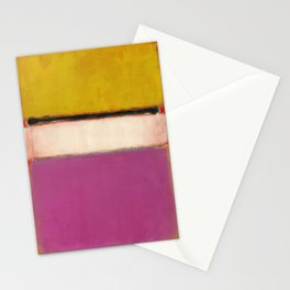 White Center (Yellow, Pink and Lavender on Rose) - Mark Rothko Stationery Cards
