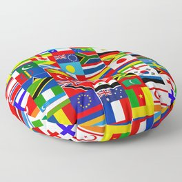 Flag Montage Floor Pillow