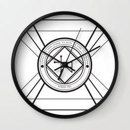 Tempus Sanandi Sigilum Wall Clock