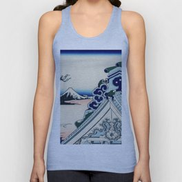 "Hokusai (1760-1849) ""Asakusa Hongan-ji temple in the Eastern capital [Edo]"" Unisex Tank Top"