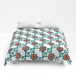 Square leaf flower pattern Comforters