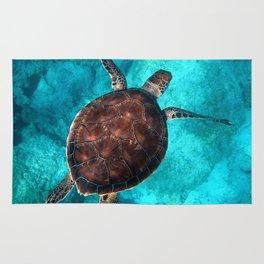 Swimming Turtle Rug