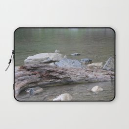 Log in River in Rain Laptop Sleeve