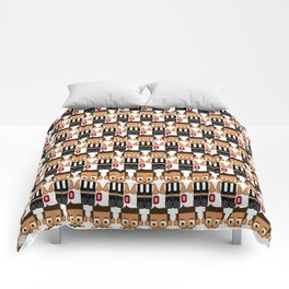 Super cute sports stars - Black and White Aussie Footy Comforters