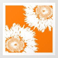 Real Galaxy Flowers Art Print