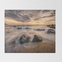 Kinnagoe Bay   Ireland  (RR80) Throw Blanket