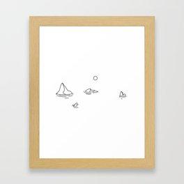 Bergs Framed Art Print