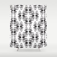 totem Shower Curtains featuring Totem by Eva Bellanger
