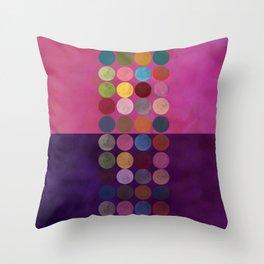 purple painterly dots Throw Pillow