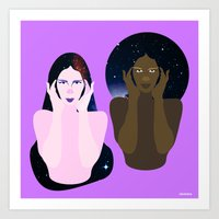 Star Sisters Art Print
