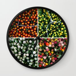 Tulips from Holland - orange & yellow Wall Clock