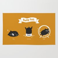 hamster Area & Throw Rugs featuring The Daily Tail Hamster by ellis