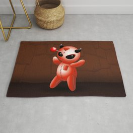 Voodoo Doll Evil Devil Cartoon Rug