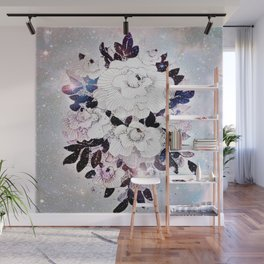 flowers in the stars Wall Mural