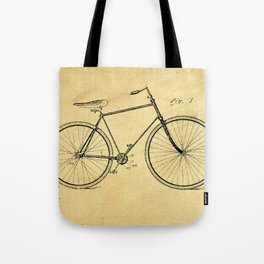 Bicyole Support Patent Drawing From 1894 Tote Bag
