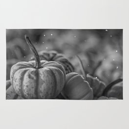 Pumpkin Paradise (Black and White) Rug