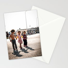 Three little girls fleeing their homeland | Documentary photography art print Stationery Cards