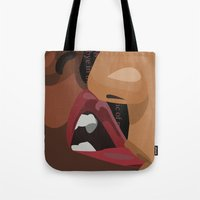 erotic Tote Bags featuring Erotic by Corijaye