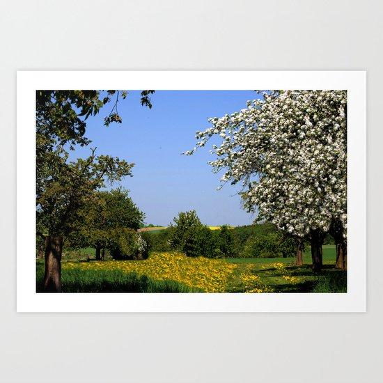 Frühlingslandschaft  Art Print
