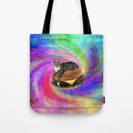 Prankster Lucy-Fur Burger Tote Bag