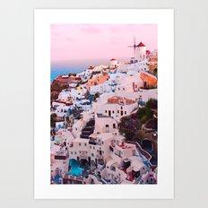 Oia town Santorini Art Print