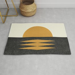 Sunset Geometric Rug