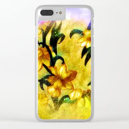 Spring Daffodils Clear iPhone Case