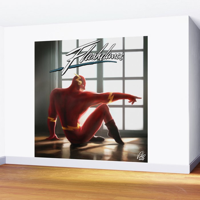 The Flash Dance Wall Mural By Fabvalle Society6