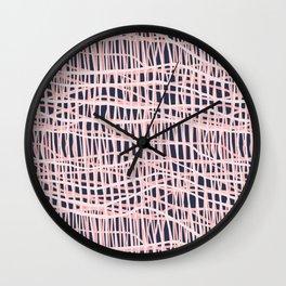 Net Blush on Navy R Wall Clock