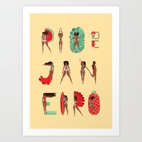 rio de janeiro Art Prints featuring Rio de Janeiro by Bea R Vaquero