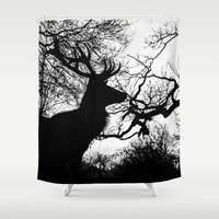 antlers Shower Curtains featuring Antlers by Sirli Raitma Photography