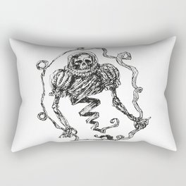 Skull with a Renaissance Spacehelmet Rectangular Pillow