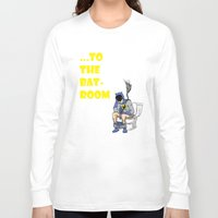 bathroom Long Sleeve T-shirts featuring To The BAThroom by Miguel Villasanta