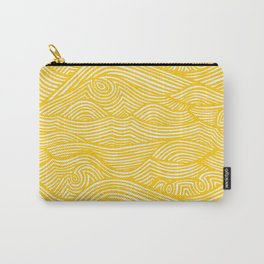 Waves in Yellow Carry-All Pouch
