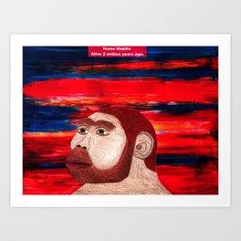 Homo Habilis (1B) Art Print