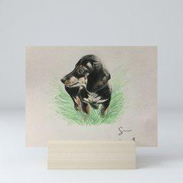sausage friend Mini Art Print