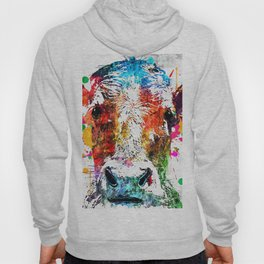Cow Watercolor Grunge Hoody