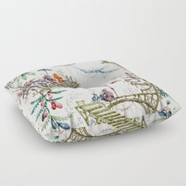 Enchanted Forest Chinoiserie Floor Pillow