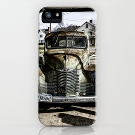 Vintage pickup truck iPhone Case