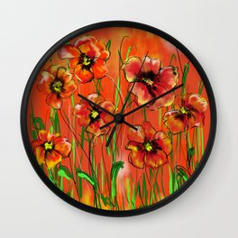 Poppy day Wall Clock