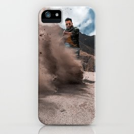 Enjoying in Sand dunes iPhone Case