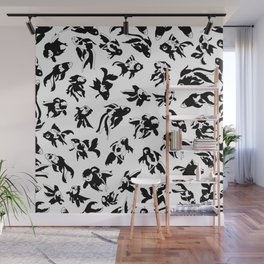 Fish Black and White Wall Mural
