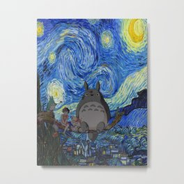 Totor Starry Night Metal Print