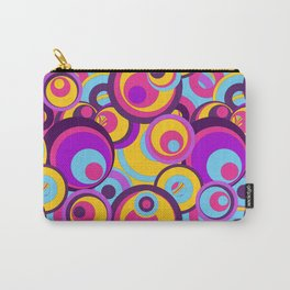 Retro Circles Groovy Colors Carry-All Pouch