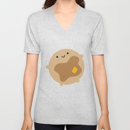 Kawaii Pancake Unisex V-Neck