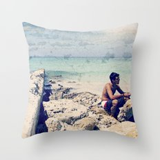 Breakers Day Throw Pillow