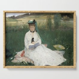 Reading by Berthe Morisot Serving Tray