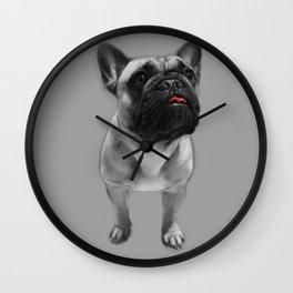 Cheeky Red Tongue French Bulldog Wall Clock