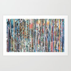 STRIPES 30 Art Print